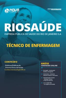 Apostila RIOSAÚDE 2019 Técnico de Enfermagem Grátis Cursos Online