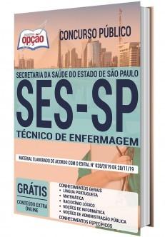 Apostila Concurso SES SP 2020 Técnico de Enfermagem PDF Download e Impressa