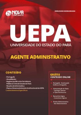 Apostila Concurso UEPA 2019 Agente Administrativo Grátis Cursos Online
