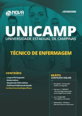 AApostila Concurso UNICAMP 2020 Técnico de Enfermagem Grátis Cursos Online