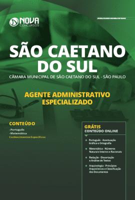Apostila Concurso Câmara de São Caetano do Sul 2020 Agente Administrativo Grátis Cursos Online