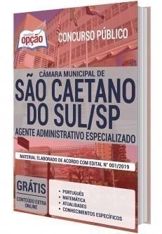 Apostila Concurso Câmara de São Caetano do Sul 2020 Agente Administrativo Especializado PDF e Impressa
