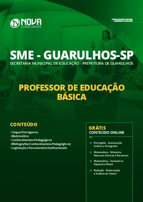 Apostila Prefeitura de Guarulhos 2020 Professor de Educação Básica Grátis Cursos Online