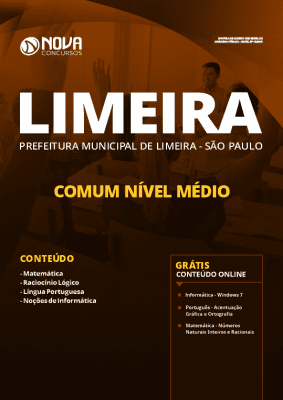 Apostila Prefeitura de Limeira 2020 Impressa e PDF Grátis Cursos Online