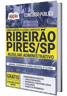 Apostila Câmara de Ribeirão Pires 2020 PDF Auxiliar Administrativo