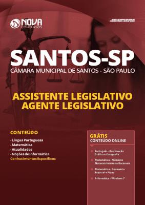 Apostila Concurso Câmara de Santos 2020 PDF Assistente Legislativo Grátis Cursos Online