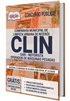 Apostila Concurso CLIN 2020 PDF Download e Impressa