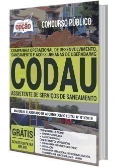 Apostila Concurso CODAU 2020 Assistente de Serviços de Saneamento PDF Download Digital e Impressa