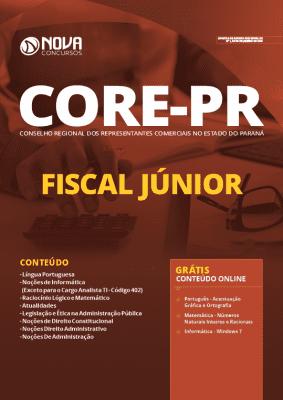 Apostila Concurso CORE PR 2020 PDF Fiscal Júnior Grátis Cursos Online