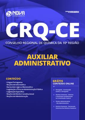 Apostila Concurso CRQ CE 2020 PDF Auxiliar Administrativo Grátis Cursos Online
