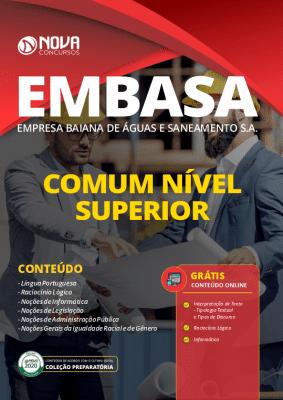 Apostila Concurso EMBASA 2020 PDF Cargos de Nível Superior Grátis Cursos Online