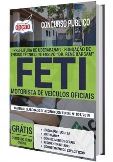 Apostila Concurso FETI 2020 Motorista PDF Download e Impressa