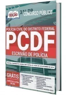 Apostila Concurso PC DF 2020 Escrivão de Polícia PDF e Impressa