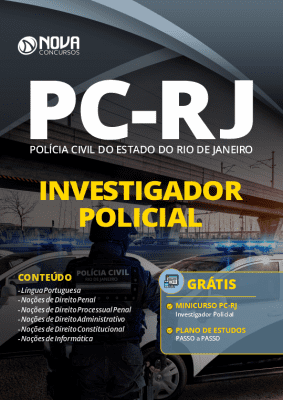 Apostila Concurso PC RJ 2020 Investigador Policial PDF Download Digital e Impressa