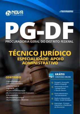 Apostila Concurso PG DF 2020 Técnico Jurídico Especialidade Apoio Administrativo Grátis Cursos Online