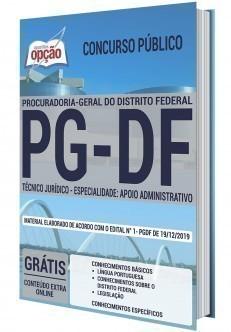 Apostila Concurso PG DF 2020 Técnico Jurídico Especialidade Apoio Administrativo PDF e Impressa