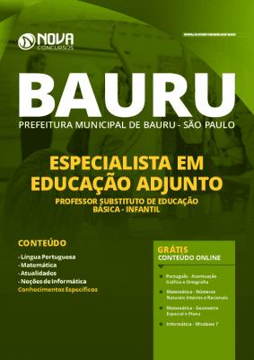Apostila Prefeitura de Bauru 2020 Professor Grátis Cursos Online