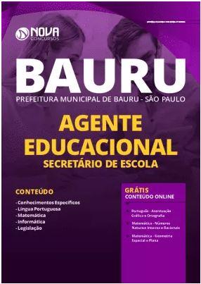 Apostila Prefeitura de Bauru 2020 PDF Secretário de Escola Grátis Cursos Online