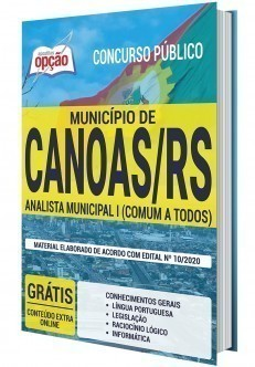 Apostila Prefeitura de Canoas 2020 PDF Analista Municipal I
