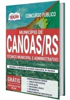 Apostila Concurso Prefeitura de Canoas 2020 PDF Técnico Administrativo