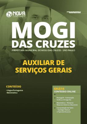 Apostila Prefeitura de Mogi das Cruzes 2020 PDF Auxiliar de Serviços Gerais