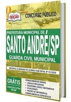 Apostila Concurso Prefeitura de Santo André 2020 Guarda Civil Municipal PDF Download e Impressa
