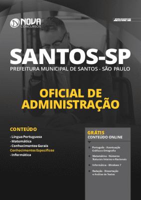 Apostila Prefeitura de Santos 2020 PDF Oficial de Administração Grátis Cursos Online