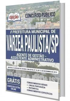 Apostila Prefeitura de Várzea Paulista 2020 PDF Assistente Administrativo
