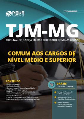 Apostila Concurso TJM MG 2020 Impressa e Download PDF Grátis Cursos Online Cargos de Nível Médio e Superior