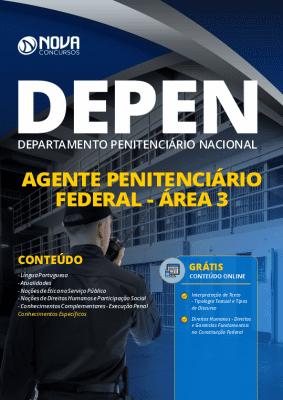 Apostila Concurso DEPEN 2020 Agente Penitenciário Federal Área 3 Grátis Cursos Online