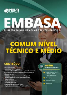 Apostila EMBASA 2020 PDF Nível Médio Grátis Cursos Online