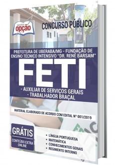 Apostila FETI 2020 PDF Auxiliar de Serviços e Trabalhador Braçal PDF e Impressa