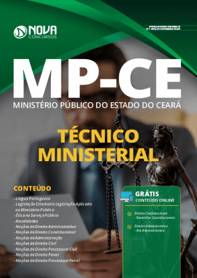 Apostila Concurso MP CE 2020 Técnico Ministerial Impressa e PDF Grátis Cursos Online