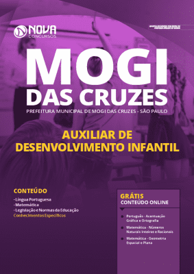 Apostila Concurso Prefeitura de Mogi das Cruzes 2020 PDF Auxiliar de Desenvolvimento Infantil