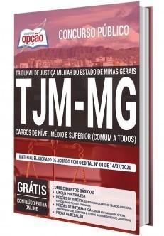 Apostila TJM MG 2020 PDF Download Nível Médio e Superior