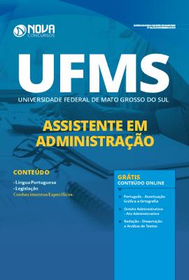 Apostila UFMS 2020 Impressa e PDF Grátis Cursos Online Assistente em Administração