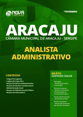 Apostila Câmara de Aracaju 2020 PDF Analista Administrativo