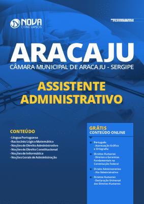 Apostila Câmara de Aracaju 2020 PDF Assistente Administrativo