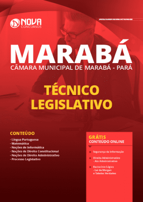 Apostila Câmara de Marabá 2020 PDF Técnico Legislativo