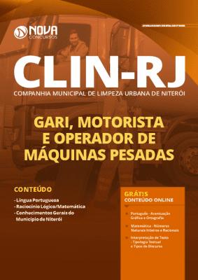 Apostila Concurso CLIN RJ 2020 Impressa e Download PDF Grátis Cursos Online