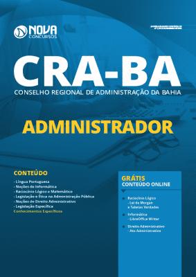 Apostila Concurso CRA BA 2020 PDF Download Administrador