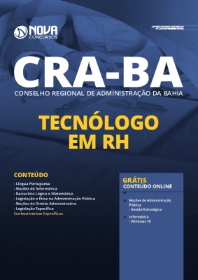 Apostila Concurso CRA BA 2020 PDF Download Tecnólogo em RH