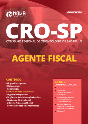 Apostila Concurso CRO SP 2020 PDF Download Agente Fiscal