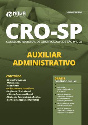 Apostila Concurso CRO SP 2020 PDF Auxiliar Administrativo