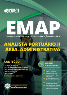 Apostila Concurso EMAP 2020 Impressa e PDF Download Grátis Cursos Online Cargo de Analista Portuário Área Administrativa