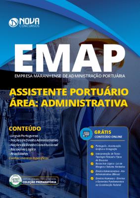Apostila Concurso EMAP 2020 Impressa e PDF Download Grátis Cursos Online Cargo de Assistente Portuário - Área: Administrativa