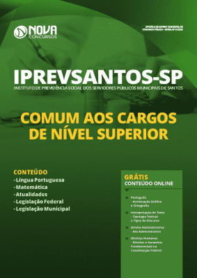 Apostila IPREVSANTOS 2020 PDF Download Nível Superior
