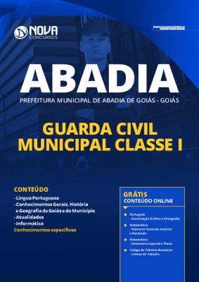 Apostila Concurso Prefeitura de Abadia de Goiás 2020 PDF Download Guarda Municipal