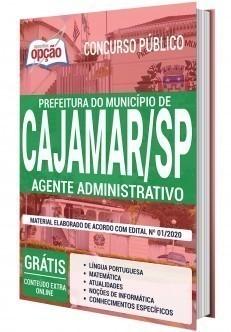 Apostila Prefeitura de Cajamar 2020 PDF Agente Administrativo