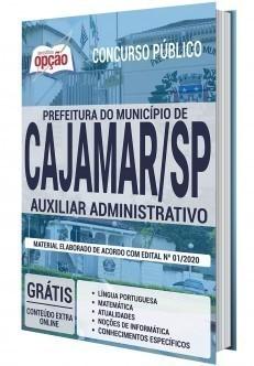 Apostila Prefeitura de Cajamar 2020 PDF Auxiliar Administrativo